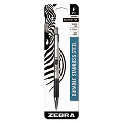 F-301 Ballpoint Retractable Pen, Black Ink, Medium