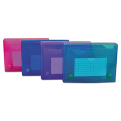 Index Card Case, Holds 200 4 x 6 Cards, Polypropylene, Assorted Colors