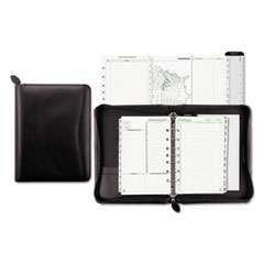 Recycled Bonded Leather Starter Set, 5 1/2 x 8 1/2, Black Cover