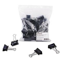 "Medium Binder Clips, Zip-Seal Bag, 5/8"" Capacity, 1 1/4"" Wide, Black, 36/Bag"