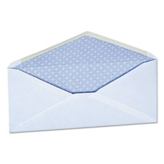 Security Tinted Business Envelope, #10, 4 1/8 x 9 1/2, White, 500/Box