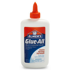 Glue-All White Glue, Repositionable, 7.625 oz