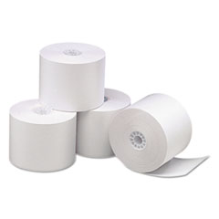 "Direct Thermal Printing Thermal Paper Rolls, 2 1/4"" x 165 ft, White, 50/Carton"