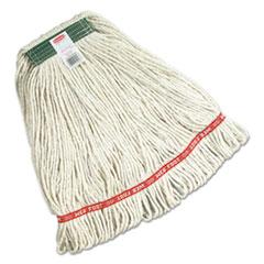 Super_Stitch_Mop_Heads_Cotton_White_Medium_1in_Green_Headband_6Carton