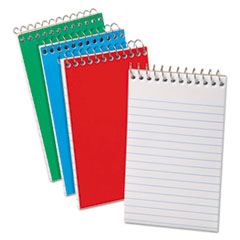 Wirebound Pocket Memo Book, Narrow, 3 x 5, White, 60 Sheets, 3/Pack