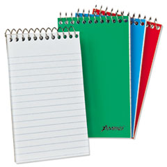Wirebound Pocket Memo Book, Narrow, 6 x 4, White, 40 Sheets, 3/Pack