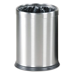 HideaBag_Open_Top_Wastebasket_35_gal_9_12_Dia_x_12_12H_Stainless_Steel