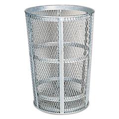 Street_Basket_Waste_Receptacle_23_Diameter_45_gal_Silver