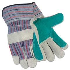 MotivationUSA * Split Leather Palm Gloves, Gray