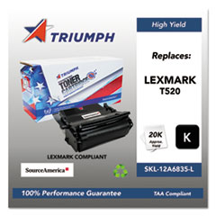 751000NSH0209 Remanufactured 12A6835 High-Yield Toner, Black