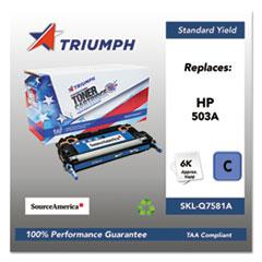 751000NSH0303 Remanufactured Q7581A (503A) Toner, Cyan