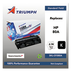 751000NSH1318 Remanufactured CF280A (80A) Toner, Black