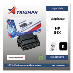 751000NSH0362 Remanufactured Q7551X (51X) High-Yield Toner, Black