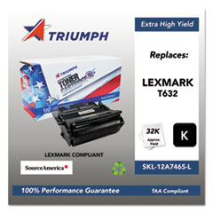 751000NSH0385 Remanufactured 12A7465 Extra High-Yield Toner, Black