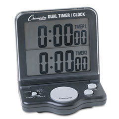 TIMER,DUAL/STOP WATCH,BK