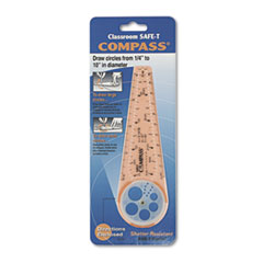 Compass, 10   Maximum Diameter, Plastic, Orange