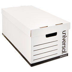 Lift-Off Lid File Storage Box, Letter, Fiberboard, White, 12/Carton