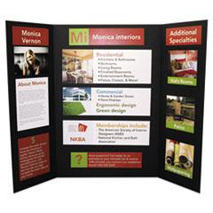 CFC-Free Polystyrene Foam Premium Display Board, 24 x 36, Black, 12/Carton