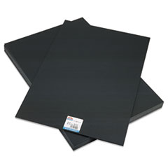 CFC-Free Polystyrene Foam Board, 20 x 30, Black Surface and Core, 10/Carton