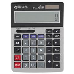 15968 Minidesk Calculator, 12-Digit LCD
