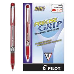 Precise Grip Roller Ball Stick Pen, Red Ink, .5mm