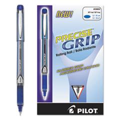 Precise Grip Roller Ball Stick Pen, Blue Ink, .5mm