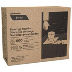 CASCADES SELECT BEVERAGE NAPKIN 1PLY 1/4 FOLD 1000