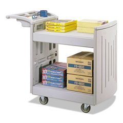 Utility Cart, Two-Shelf, 45w x 23d x 37-1/4h, Light Gray
