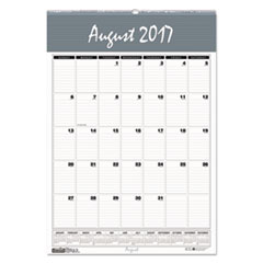 Recycled Bar Harbor Wirebound Academic Monthly Wall Calendar, 12 x 17, 2017-2018