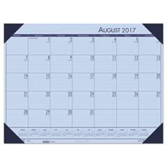 Recycled EcoTones Academic Desk Calendar, 18.5 x 13, Cordovan Corners, 2017-2018