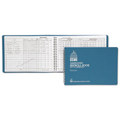 SIMPLIFIED PAYROLL RECORD, LIGHT BLUE VINYL COVER, 7 1/2