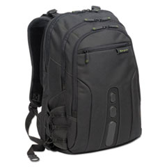 "Spruce Ecosmart Backpack 17"" Laptop, 19 1/2 x 13 x 6 3/4, Black"