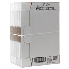 Self-Locking Shipping Boxes, 11 1/2l x 8 3/4w x 2 1/8h, White, 25/Pack