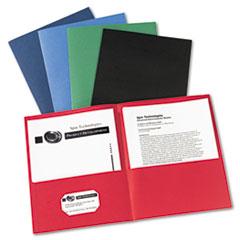 Two-Pocket Folder, 40-Sheet Capacity, Assorted Colors, 25/Box