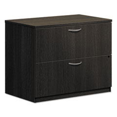 BL Laminate Two Drawer Lateral File, 35 1/2w x 22d x 29h, Espresso