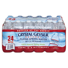 CRYSTAL GEYSER ALPINE SPRING WATER 16.9OZ BOTTLED 24CS 84CS/PL
