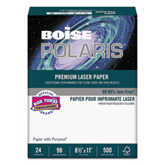 POLARIS Premium Laser Paper, 98 Bright, 24lb, 8 1/2 x 11, White, 500 Sheets