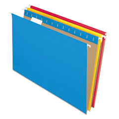 Colored Hanging Folders, 1/5 Tab, Legal, Assorted Colors, 25/Box