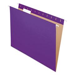Colored Hanging Folders, 1/5 Tab, Letter, Violet, 25/Box