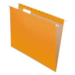 Colored Hanging Folders, 1/5 Tab, Letter, Orange, 25/Box