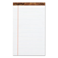 """The Legal Pad"" Ruled Perforated Pads, 8 1/2 x 14, White, 50 Sheets, Dozen"