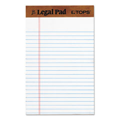 """The Legal Pad"" Ruled Perforated Pads, 5 x 8, White, 50 Sheets, Dozen"
