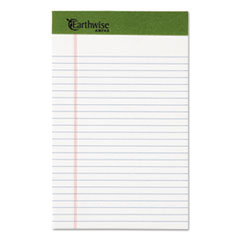 Earthwise by Ampad Recycled Writing Pad, Narrow, 5 x 8, White, Dozen