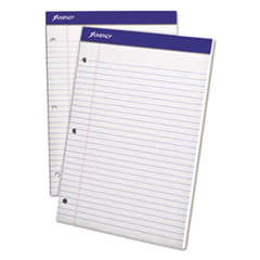 Double Sheets Pad, Legal/Wide, 8 1/2 x 11 3/4, White, 100 Sheets