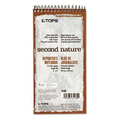 Second Nature Spiral Reporter/Steno Book, Gregg, 4 x 8, White, 70 Sheets