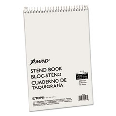 Spiral Steno Book, Gregg, 6 x 9, 15 lb, Green Tint, 60 Sheets