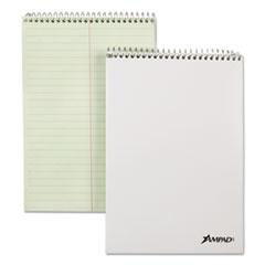 Spiral Steno Book, Gregg, 6 x 9, 20 lb, Green Tint, 70 Sheets, 6/Pack