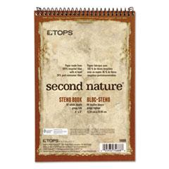Second Nature Spiral Reporter/Steno Book, Gregg, 6 x 9, White, 80 Sheets