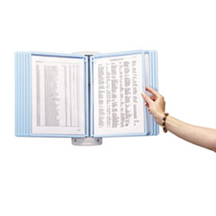 SHERPA Style Wall Reference System, 20 Sheet Capacity, Blue/Gray