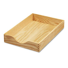 Hardwood Legal Stackable Desk Tray, Oak